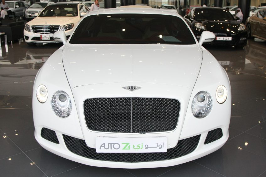 White used Bentley Continental at autoz Qatar