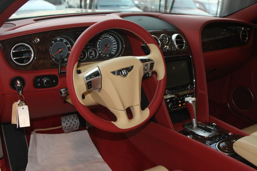 White used Bentley Continental dashboard
