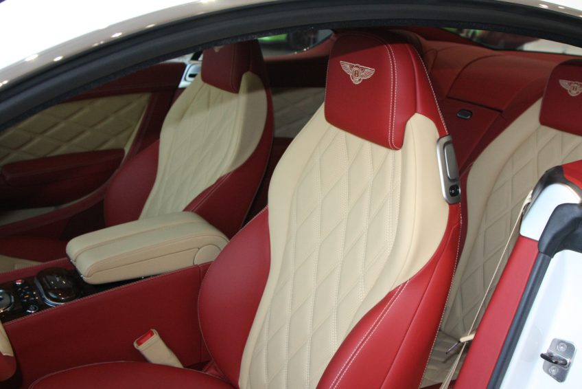 White used Bentley Continental interior