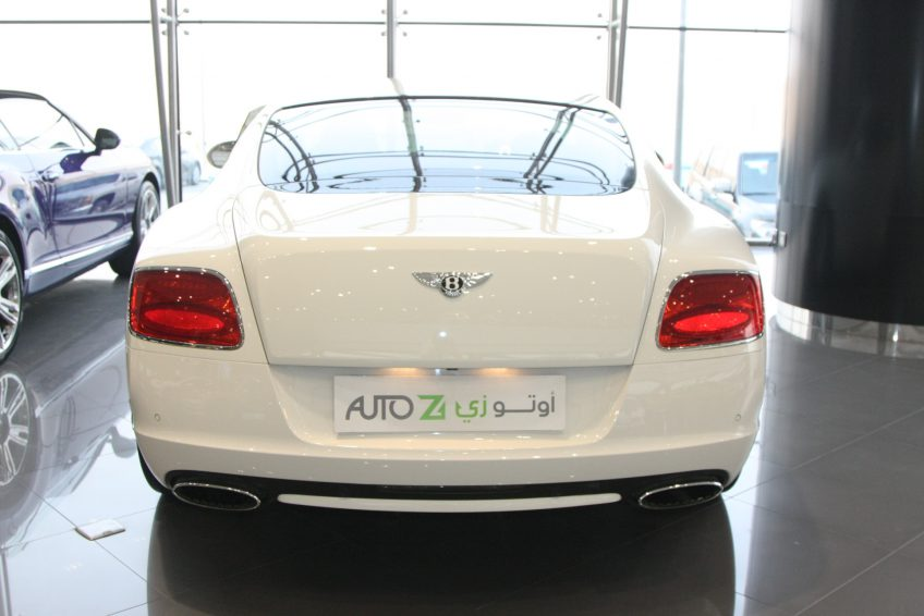 White used Bentley Continental from the back