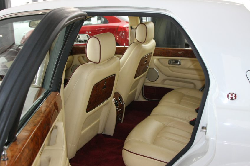 White Used Bentley Arnage interior