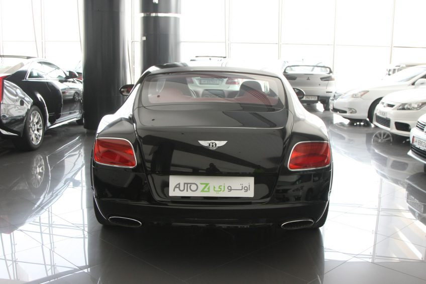 Used Black Bentley Continental GT from the back