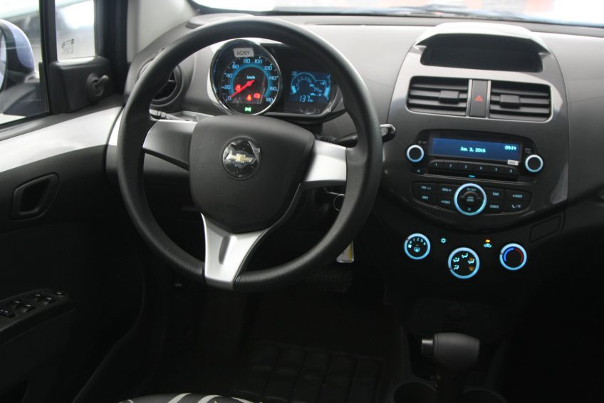 Blue Chevrolet Spark 2015 dashboard
