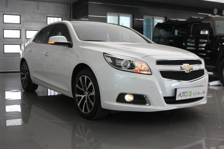 White Chevrolet Malibu LTZ 2015 at autoz Qatar