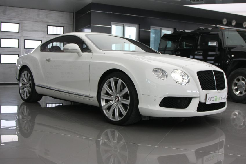 White used Bentley Continental GT at autoz Qatar