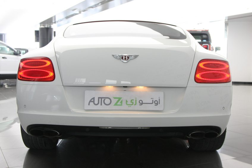White used Bentley Continental GT from the back