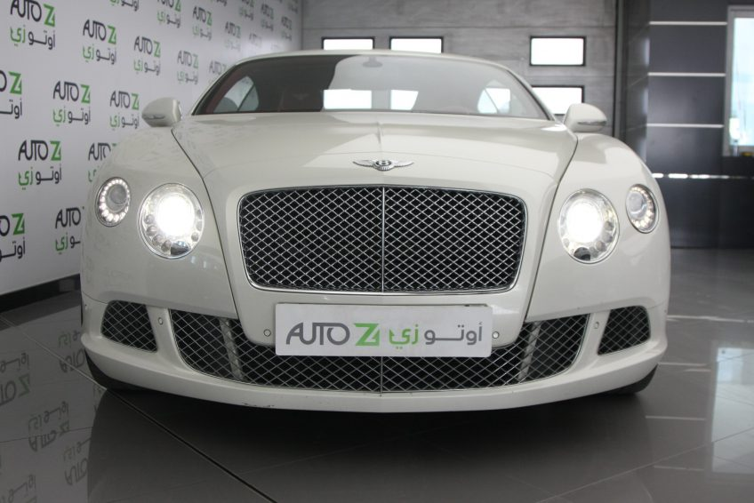 White Bentley GT Speed V12 at autoz Qatar