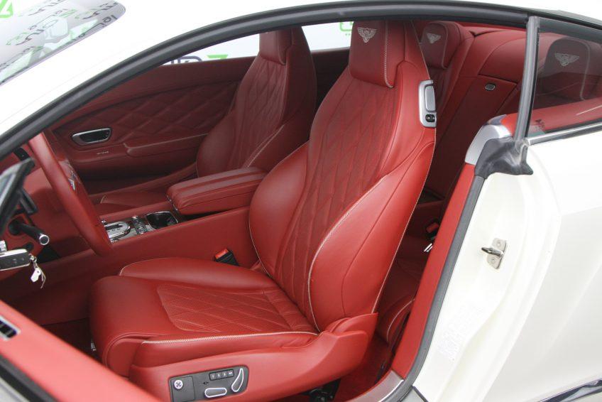 White Bentley GT Speed V12 interior