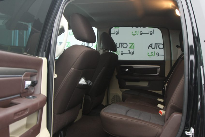 Black Dodge Ram 1500 interior
