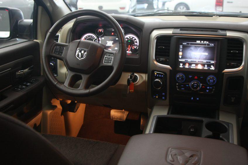 Black Dodge Ram 1500 dashboard