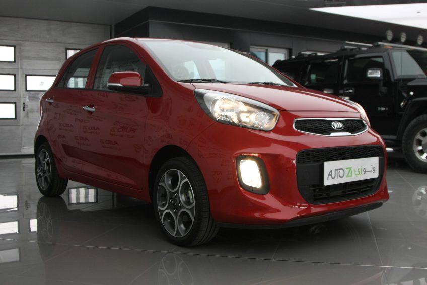 صورة كاملة لسيارة كيا بيكانتو حمراء من اوتو زي قطر