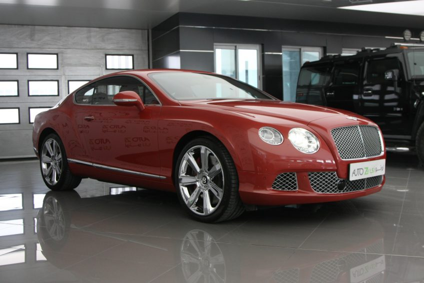 Red used Bentley Continental GT at autoz Qatar