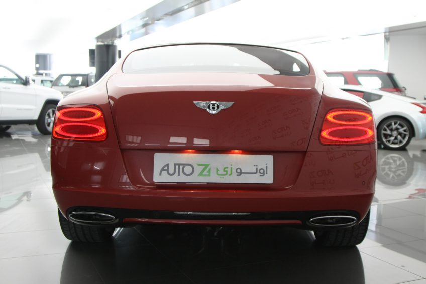 Red used Bentley Continental GT from the back