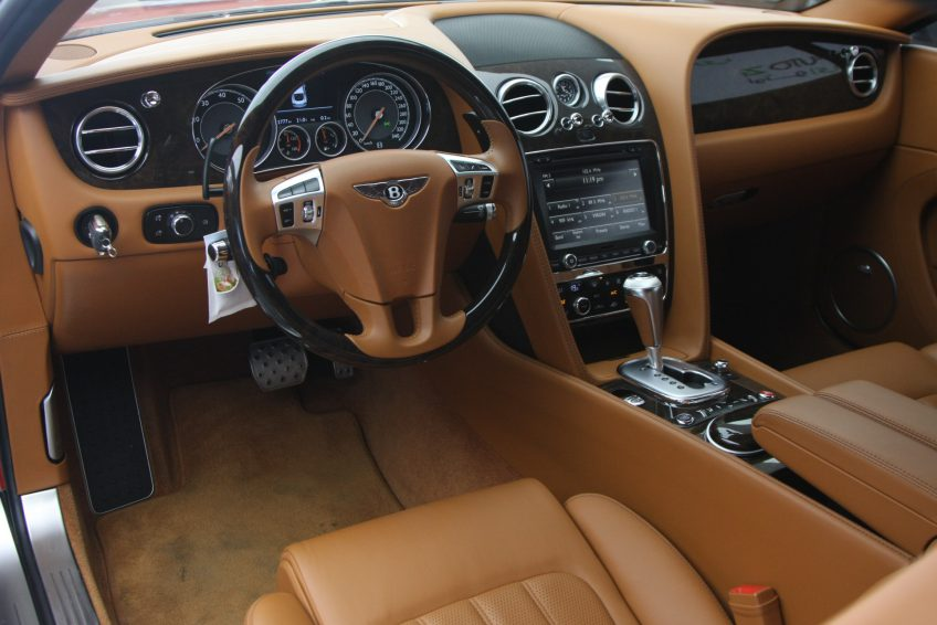 Red used Bentley Continental GT dashboard