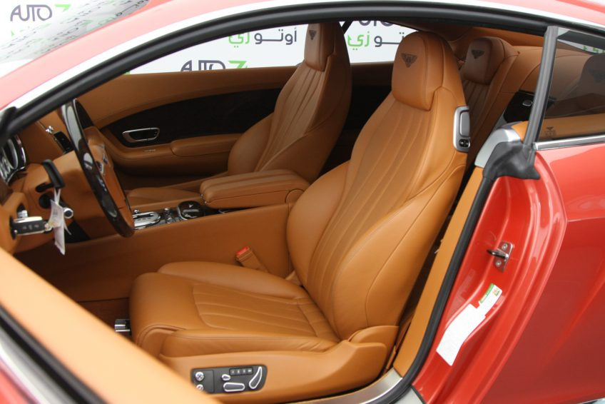 Red used Bentley Continental GT interior