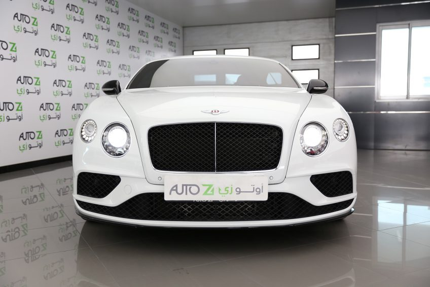 Black used white Bentley Continental GT V12 at autoz