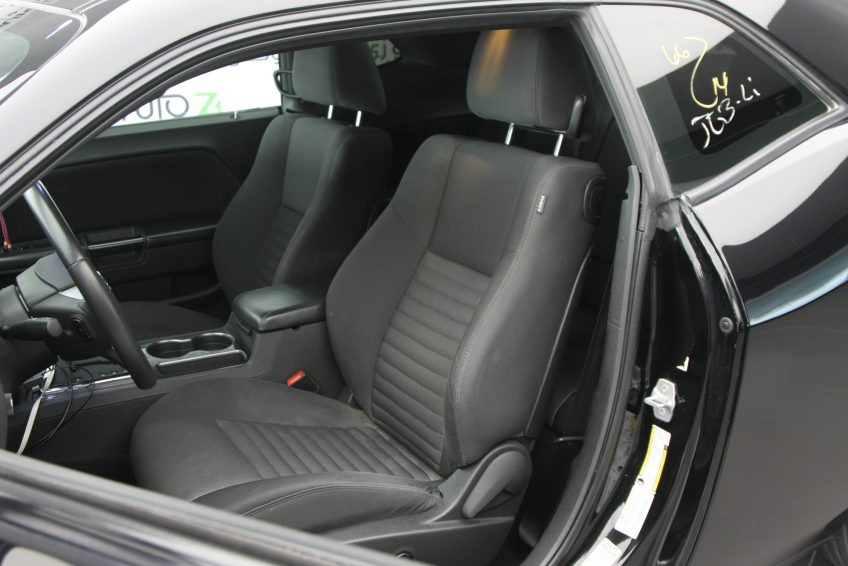 Black Dodge Challenger V6 interior
