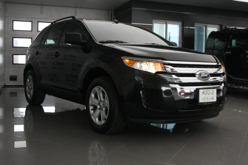 New Black Ford Edge V8 at autoz Qatar