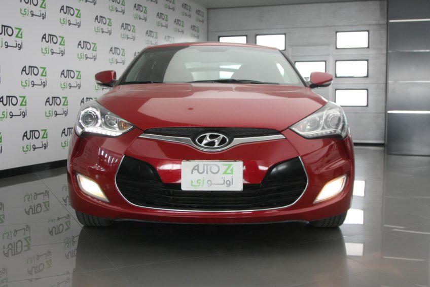 صورة أمامية لسيارة هيونداي فيلوستر حمراء من اوتو زي