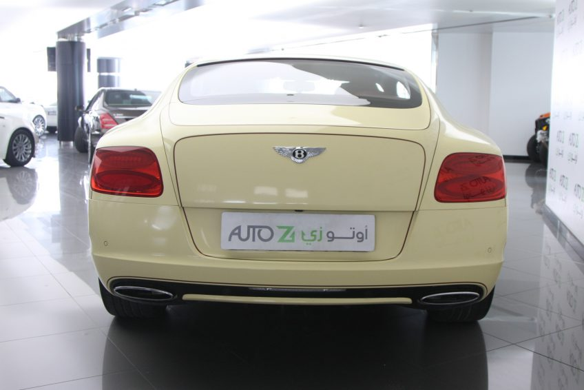 Bentley Continental GT 2012 from the back