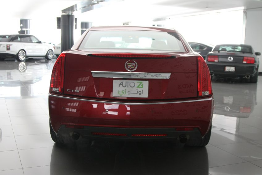 Red Used Cadillac CTS from the back at autoz Qatar
