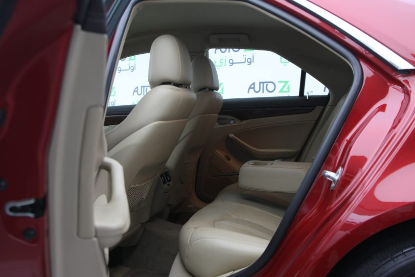 Red Used Cadillac CTS from the back interior