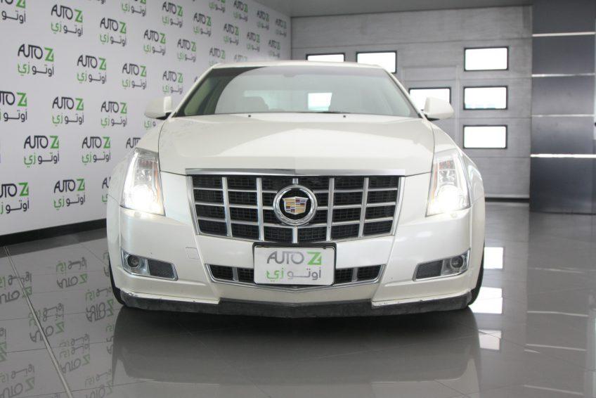 White Cadillac CTS V6 at autoz qatar