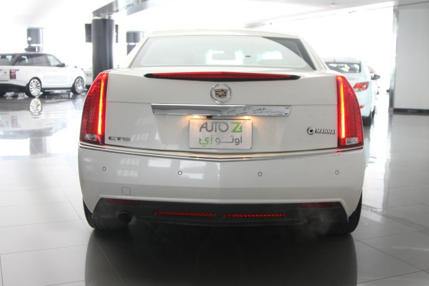 White Cadillac CTS V6 from the back