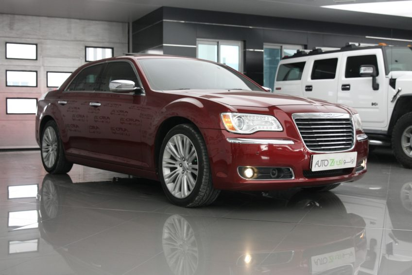 Used Red Chrysler 300C at autoz Qatar