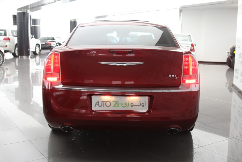 Used Red Chrysler 300C from the back