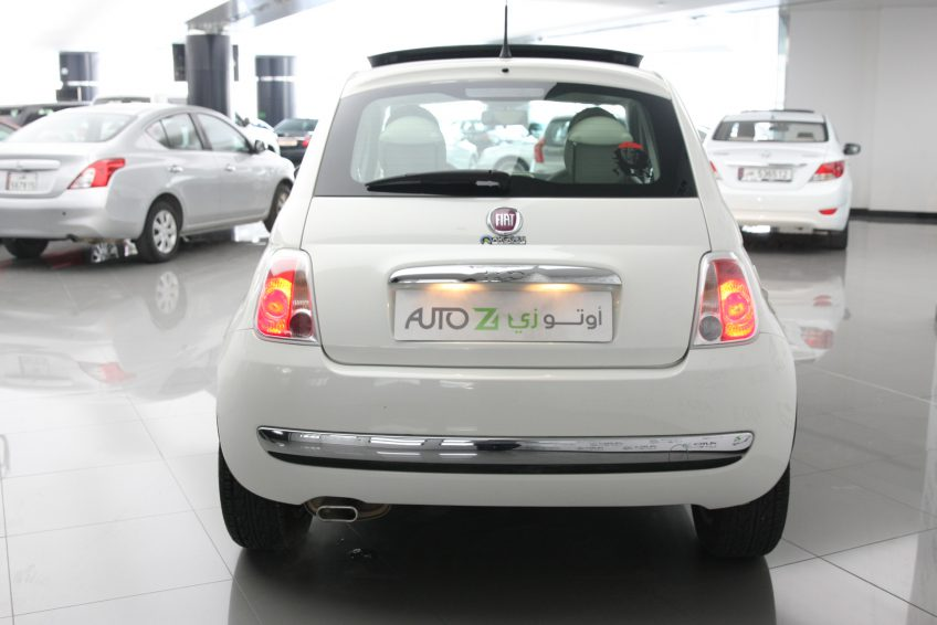 Used White Fiat 500 from the back