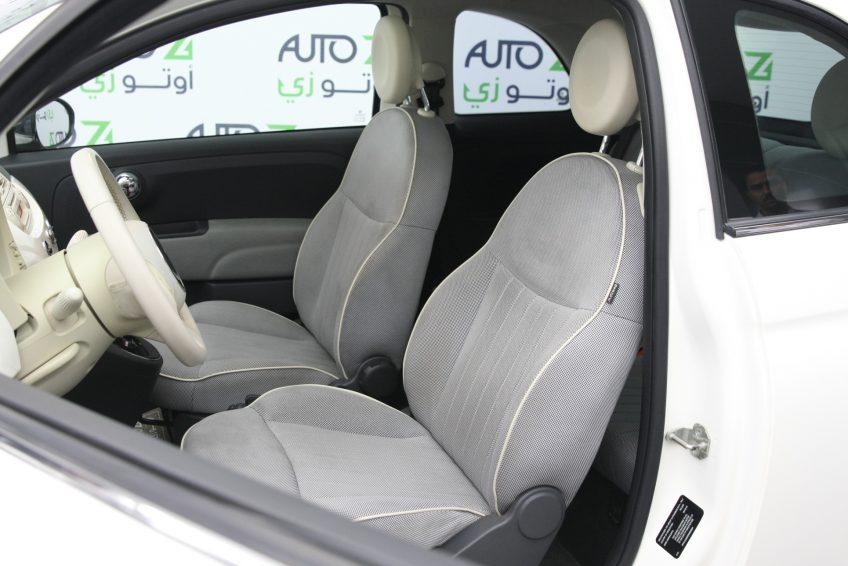 Used White Fiat 500 interior at autoz Qatar