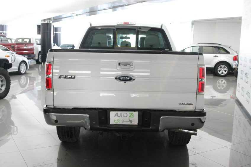 Used White Ford F-150 from the back