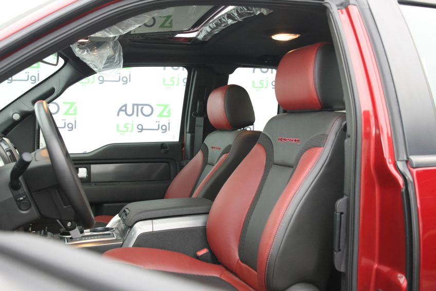 New Red Ford Raptor V8 interior