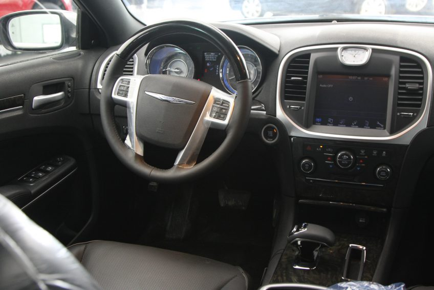 New Grey Chrysler 300C dashboard