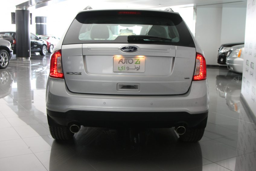 New Grey Ford Edge from the back