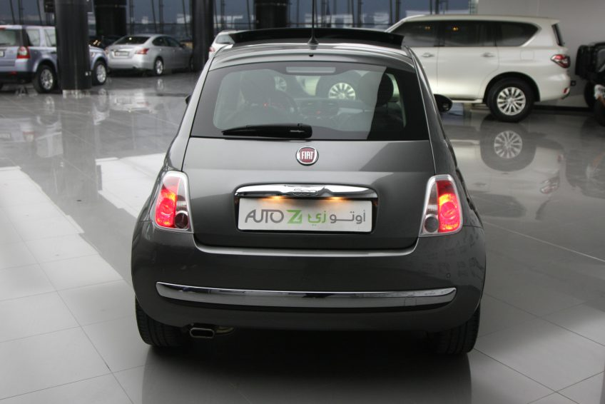 Used Grey Fiat 500 from the back