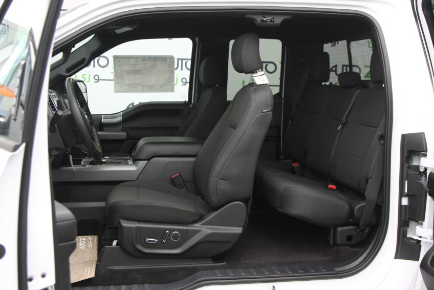 New White Ford F150 XLT interior
