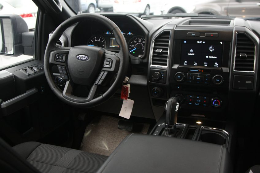 New White Ford F150 XLT dashboard
