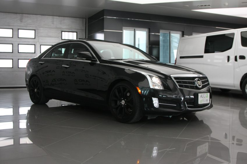 Black V6 Cadillac ATS at autoz Qatar