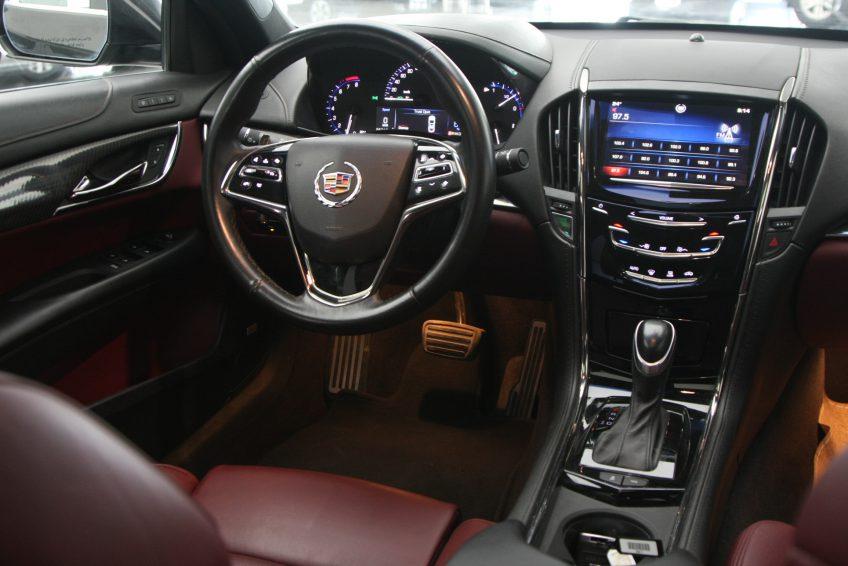 Black V6 Cadillac ATS dashboard