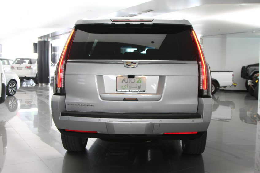 Used Cadillac Escalade Platinum from the back at autoz Qatar