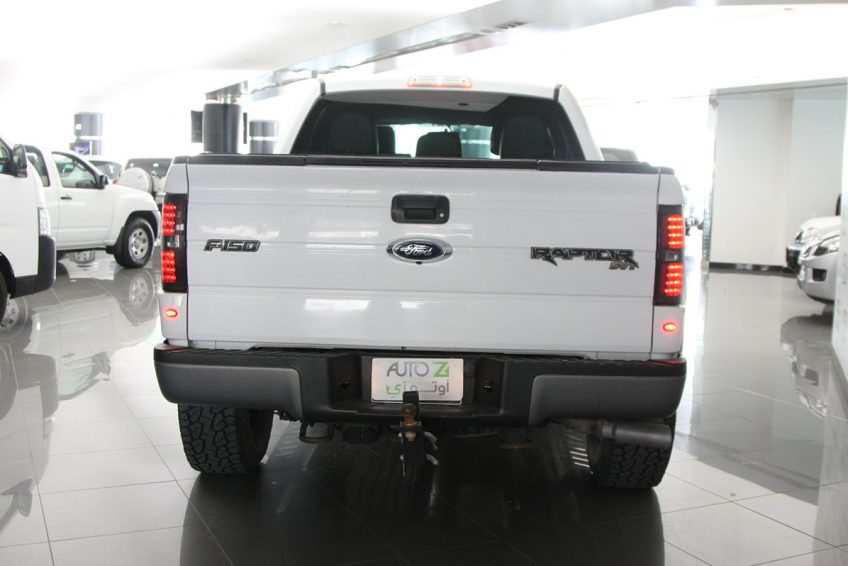 White used Ford Raptor SVT from the back