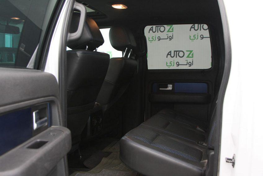 White used Ford Raptor SVT interior
