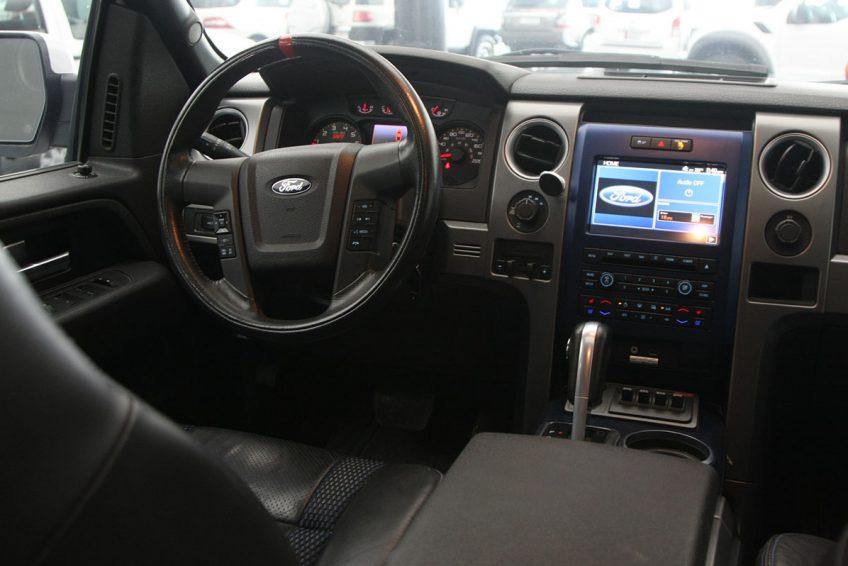 White used Ford Raptor SVT dashboard