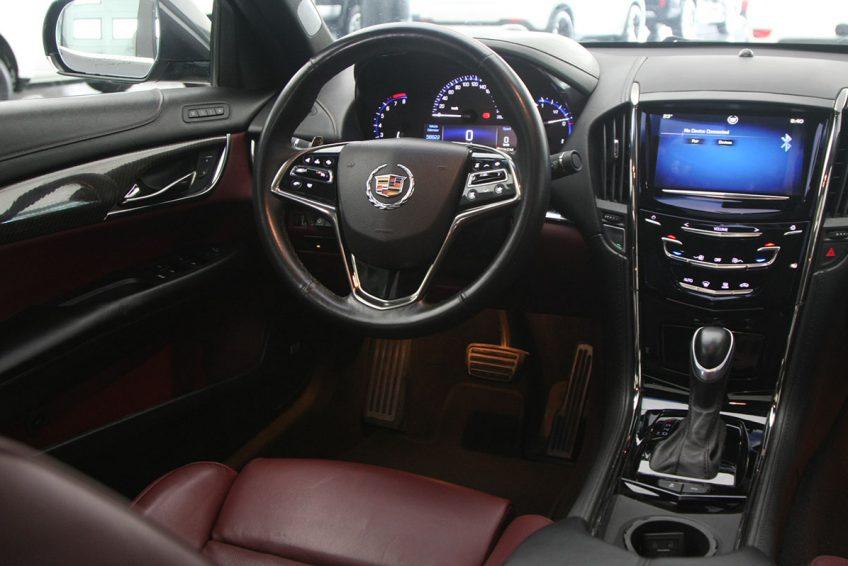 Grey Cadillac ATS V6 dashboard at autoz Qatar