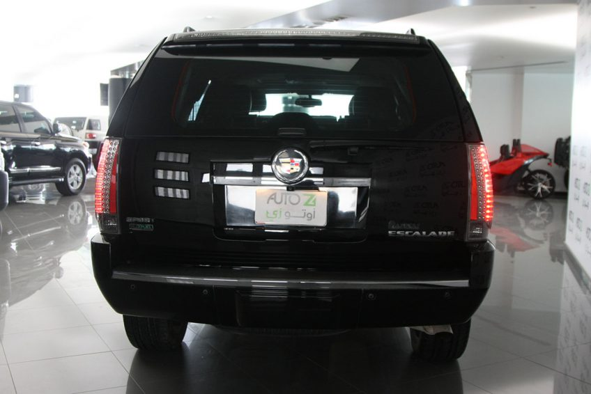 Black Cadillac Escalade V8 from the back