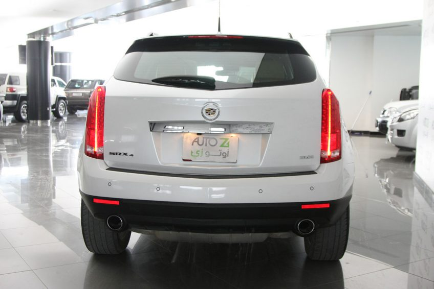 Used White Cadillac SRX 4 from the back