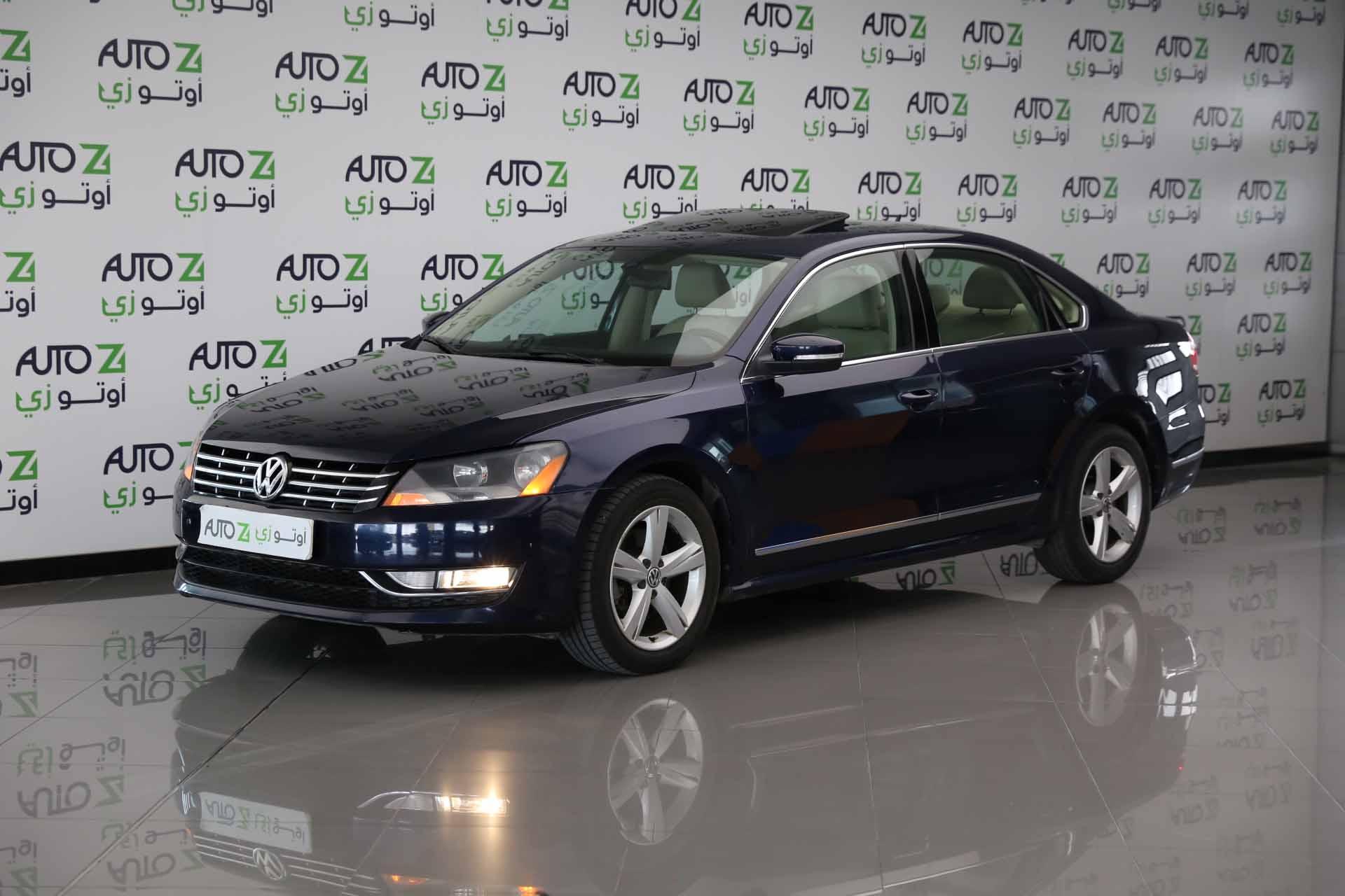 Volkswagen Passat SEL- Blue- 2013